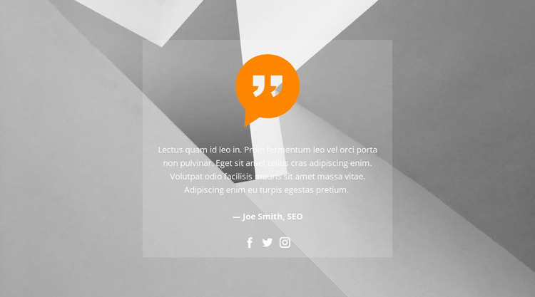Quote in the background picture Website Mockup