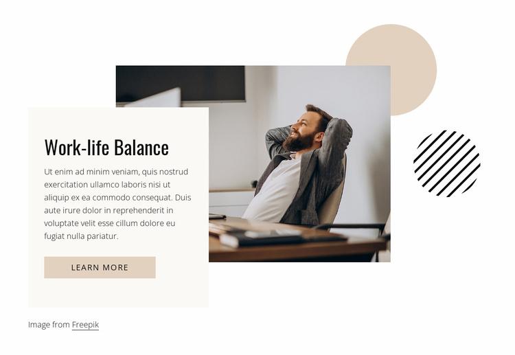 Work-life balance Website Template