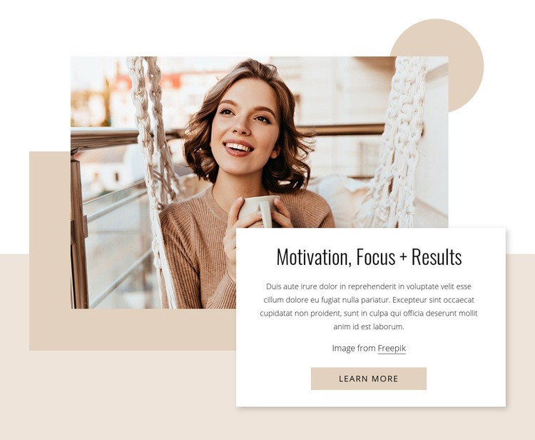Motivation, focus and results Html Code Example