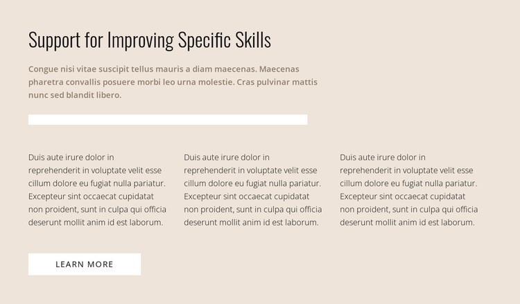 Specific skills Html Code Example