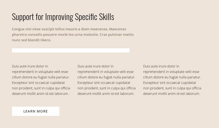 Specific skills Web Page Designer