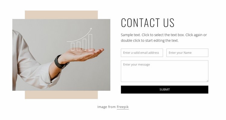 Contact form for your coaching Website Template