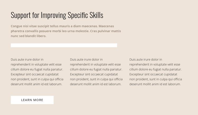 Specific skills Woocommerce Theme
