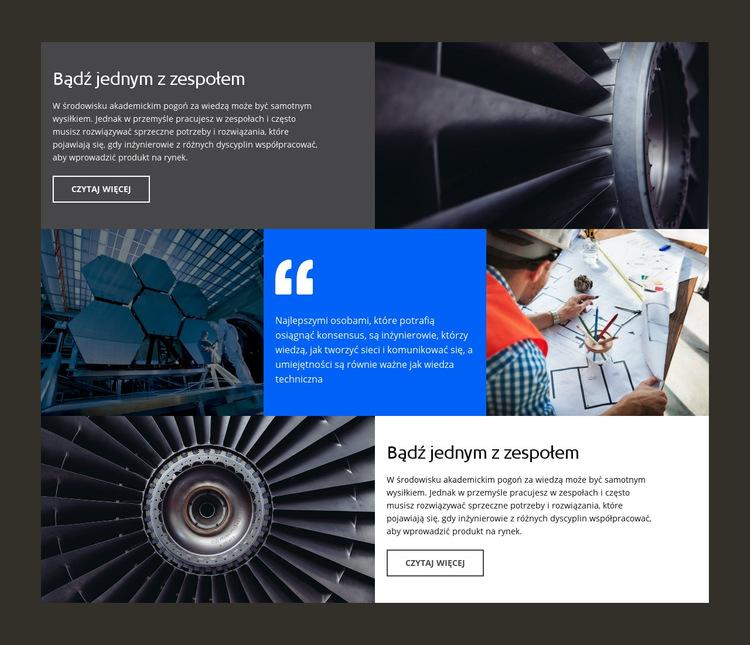Firma inżynieryjna Szablon witryny sieci Web