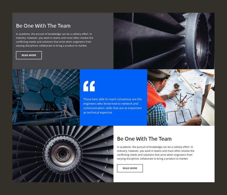 Engineering company Website Builder Software