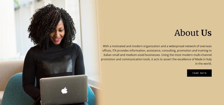 Advertisement Agency Website Mockup