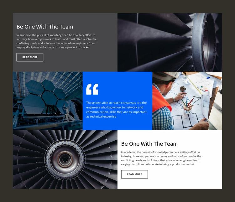 Engineering company Landing Page