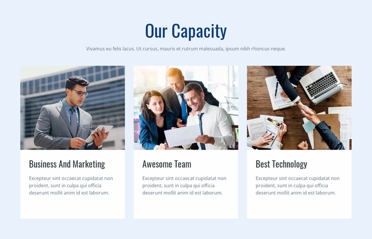 Our capacity Website Template