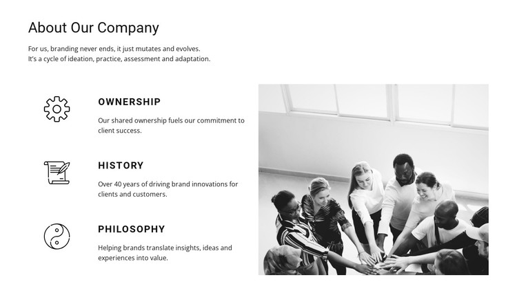 About Our Company WordPress Template