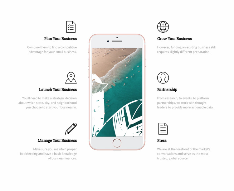 Phone apps Website Mockup