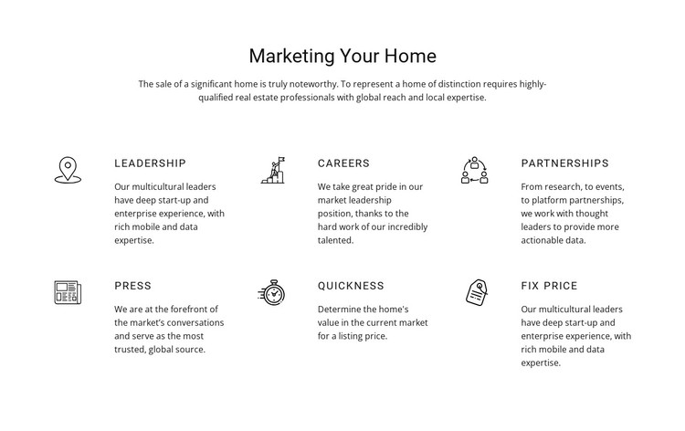Marketing Your Home WordPress Template