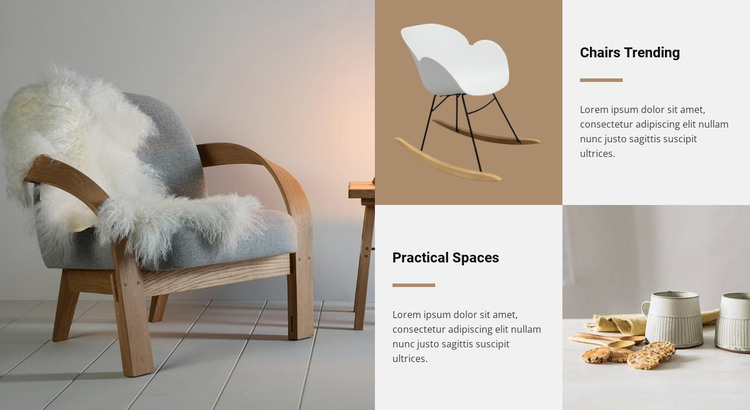 Chairs trend HTML Template