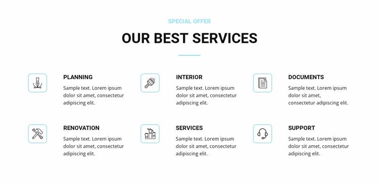 Home renovation services Website Design