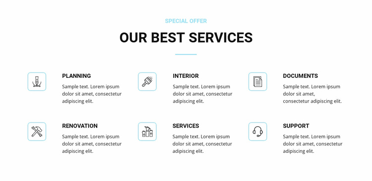Home renovation services Website Template
