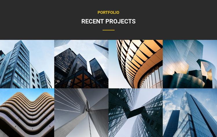 Portfolio recent projects WordPress Website Builder
