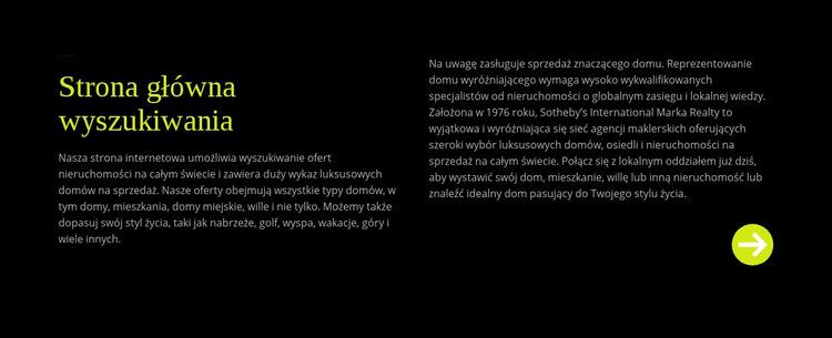 Tekst o wyszukiwaniu w domu Szablon witryny sieci Web
