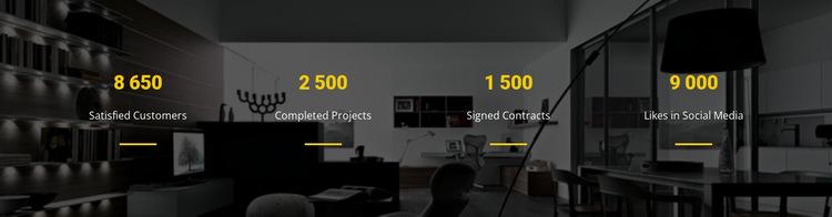 CSS counters Website Builder Templates
