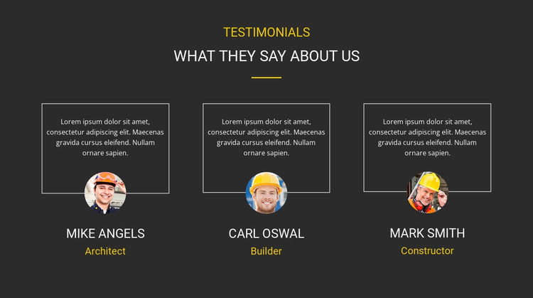 Client testimonials Html Website Builder