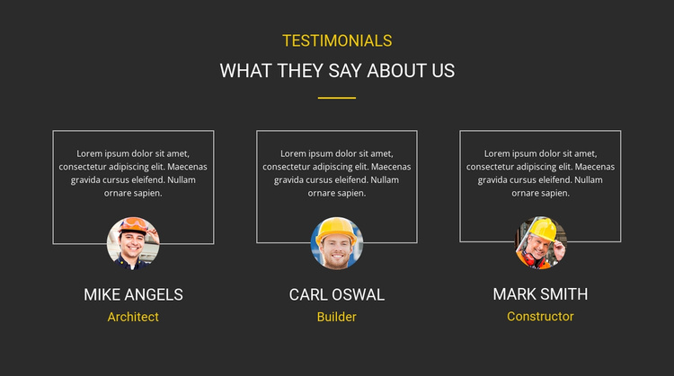 Our clients testimonial Website Template