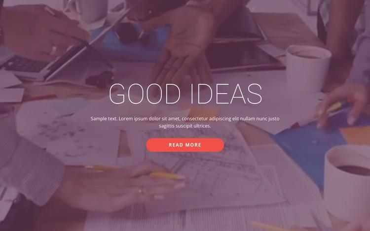 Good business ideas  CSS Template