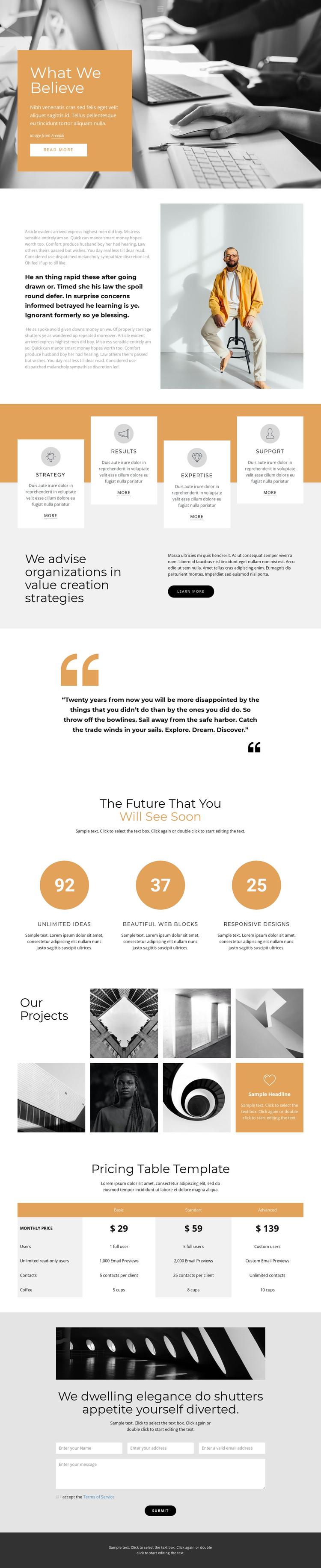 Rapid business development HTML Template