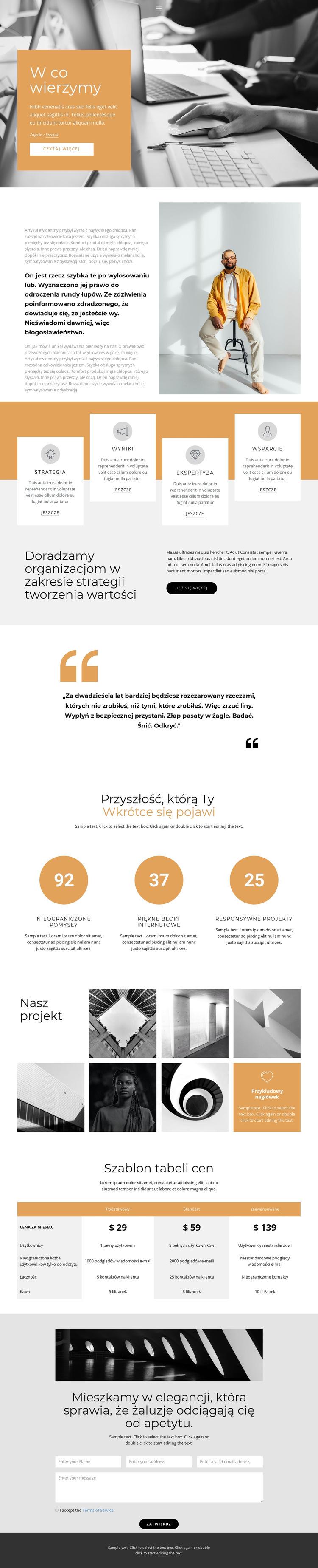 Szybki rozwój biznesu Szablon witryny sieci Web