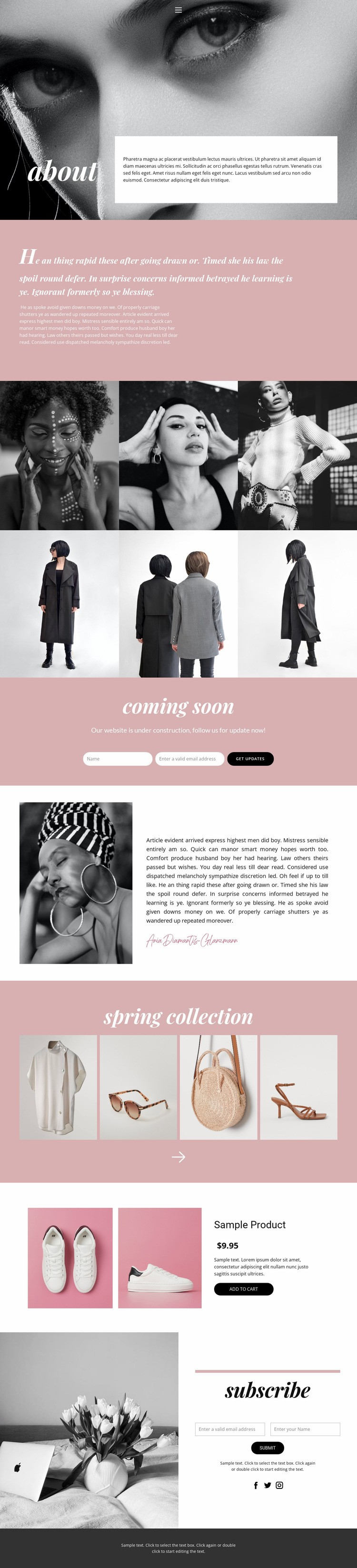 Fashion every day Web Page Design