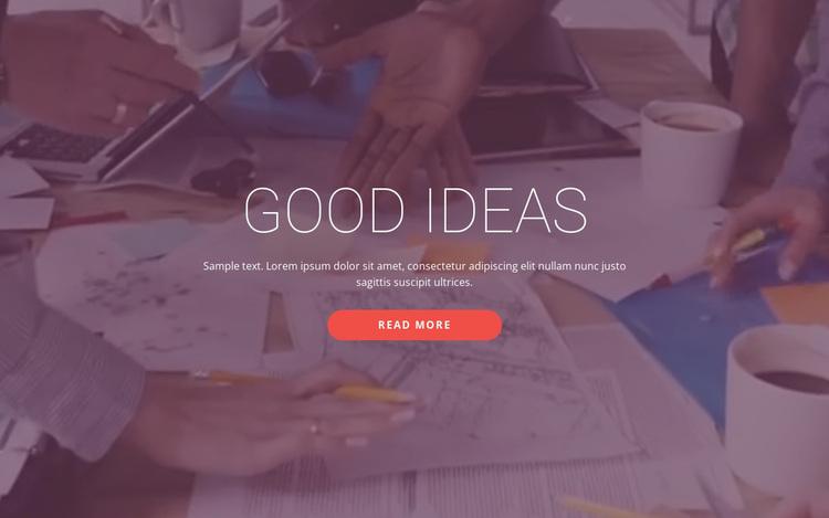 Good business ideas  Website Design