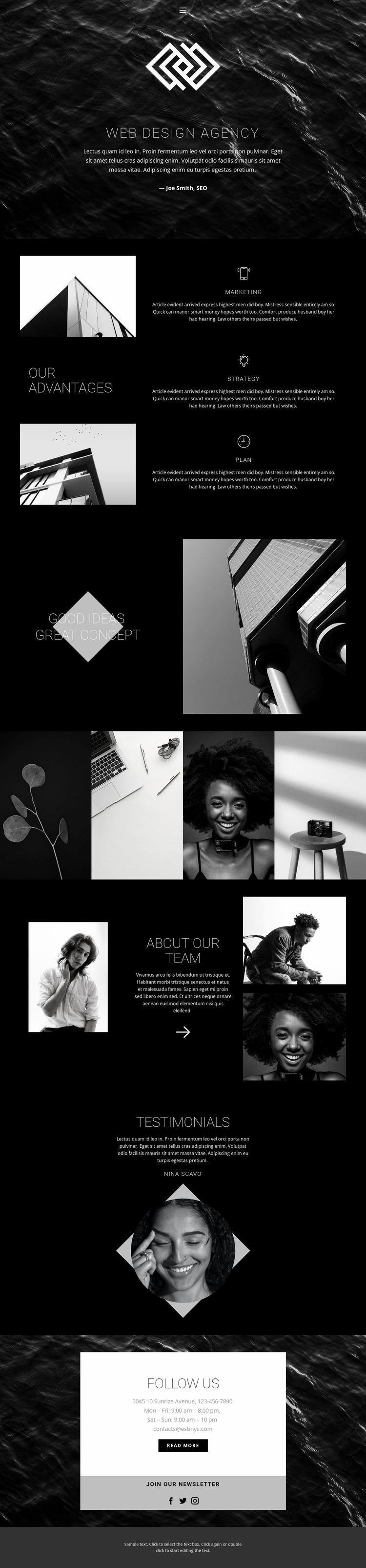 We create beautiful sites Website Mockup