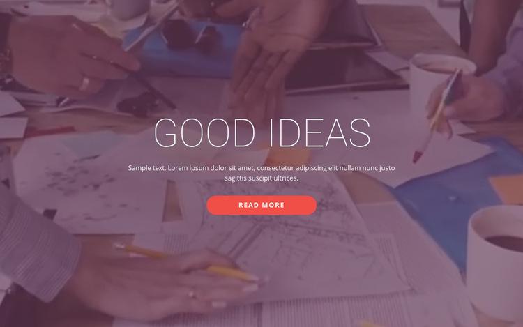 Good business ideas  WordPress Website