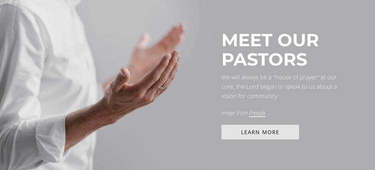 Meet our pastors HTML Template