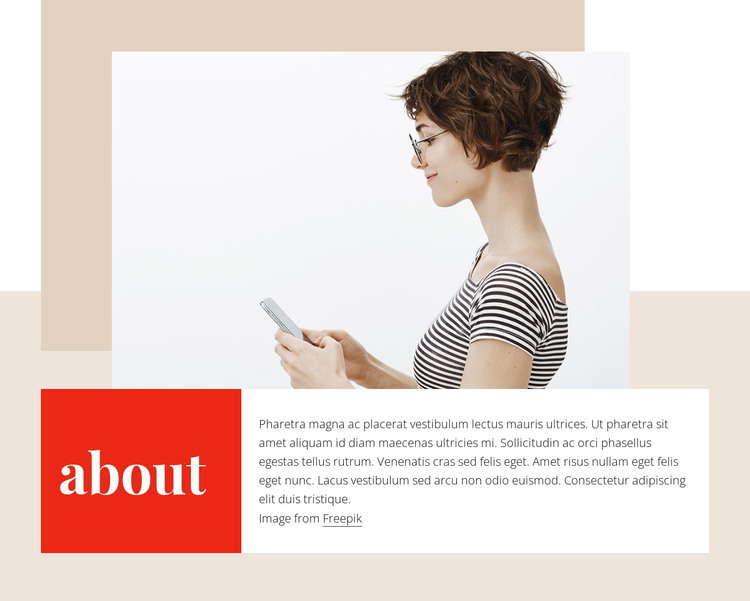 About me block HTML Template