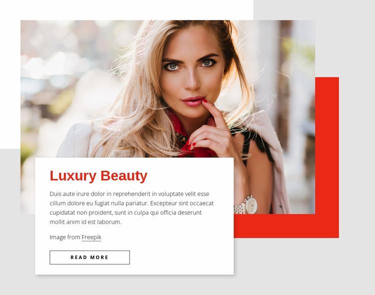 Luxury beauty Web Page Design