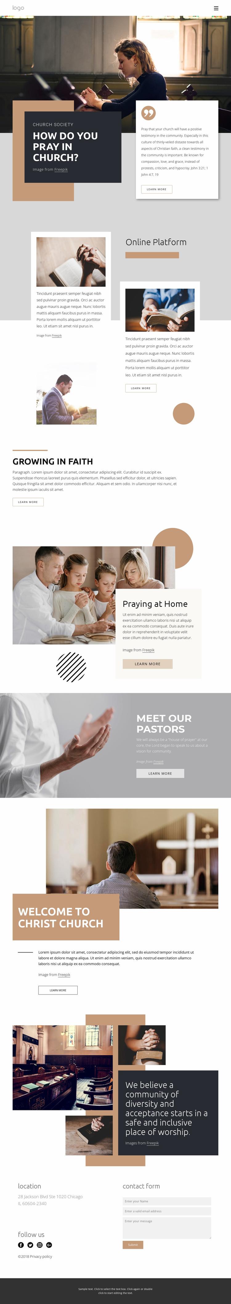 Bible reading Website Design