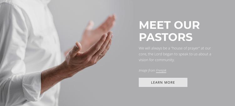 Meet our pastors Website Template