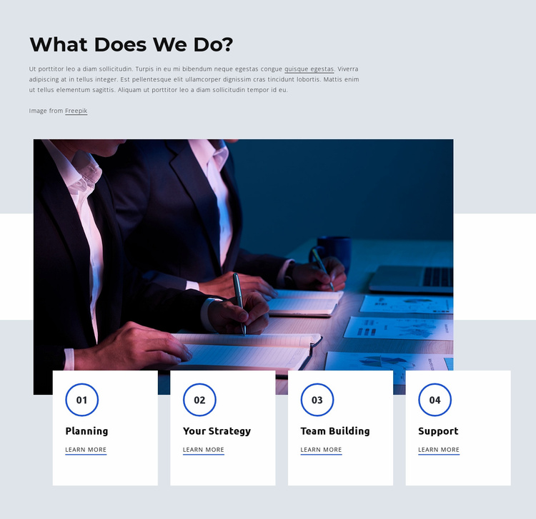 Consulting services for entrepreneurs Website Template