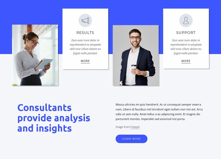 We deliver integrated solutions Website Mockup