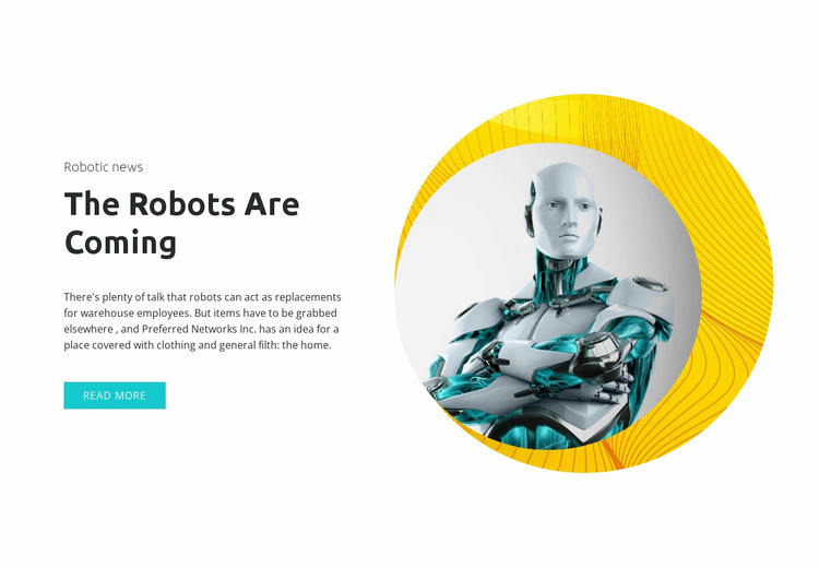 Modern technology and innovation Website Mockup