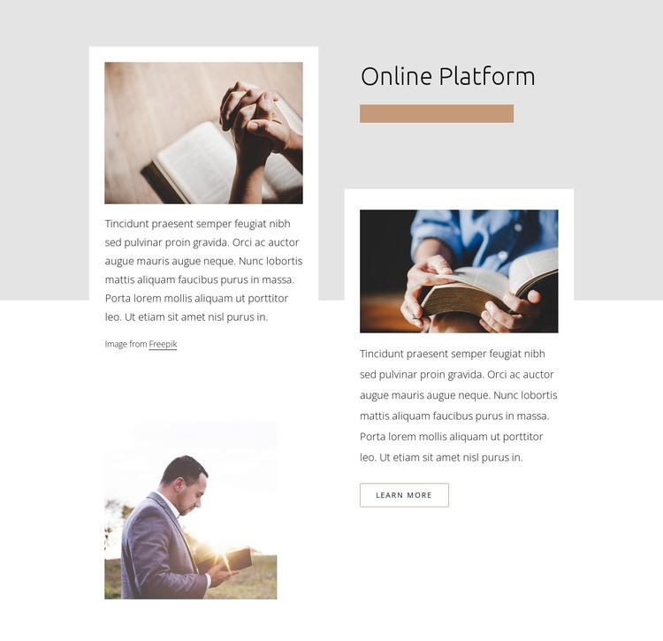 Church online platform Web Design
