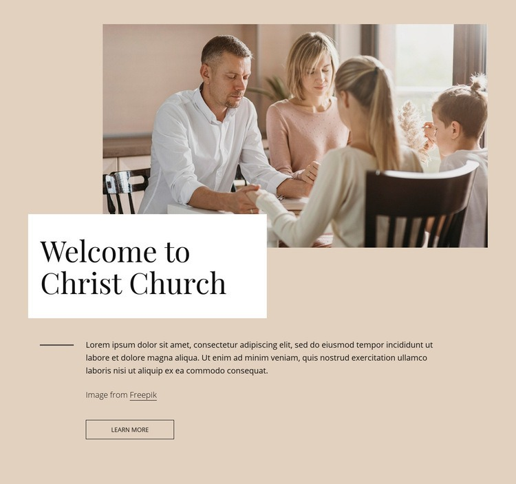Welcome to crist church Web Page Design