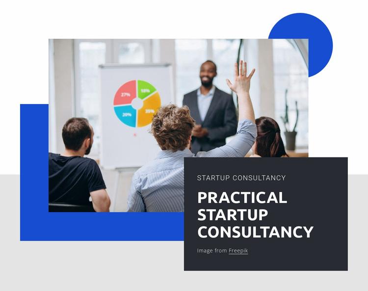 Practical startup consultancy Website Design