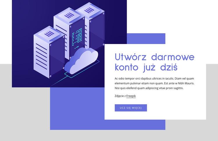 Usługi hostingu w chmurze Szablon witryny sieci Web