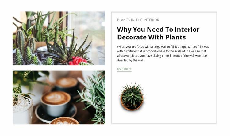 Decorate interior with plants WordPress Website Builder