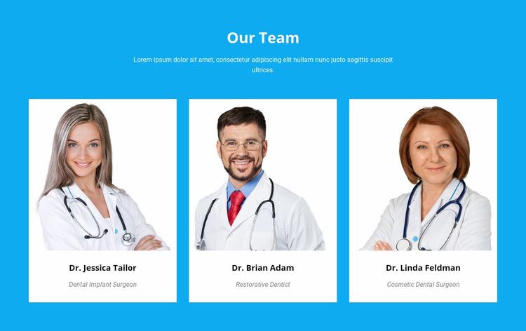 Our Medical Team WordPress Website