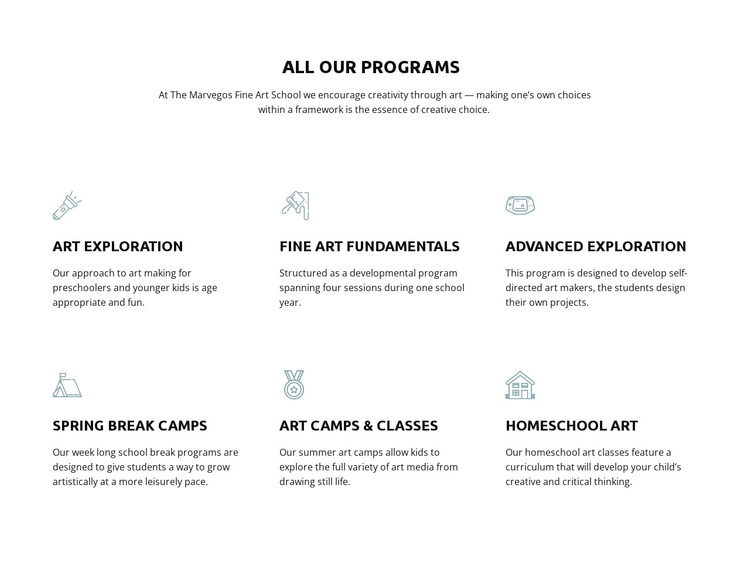 All our education programs Template