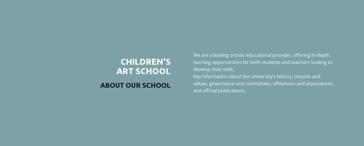 Text about school Website Mockup