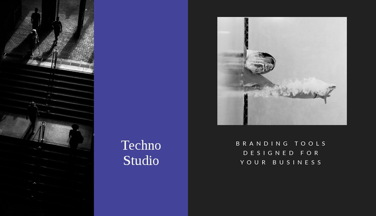 Techno studio Website Template