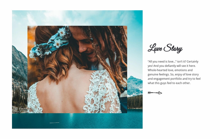 Wedding Love Story Website Template