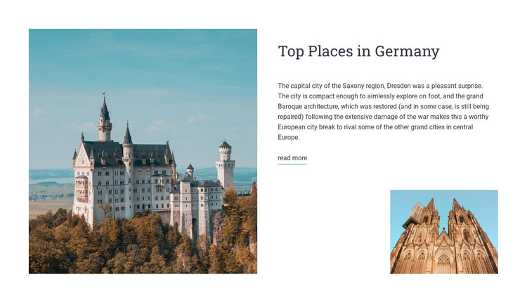 Places in germany HTML Template