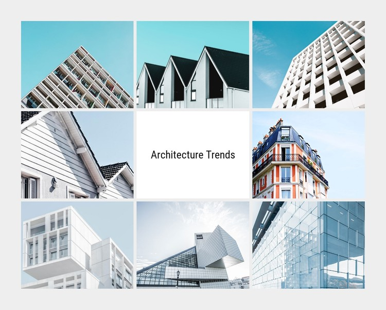 Architecture ideas in 2020 CSS Template